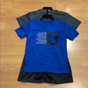 NWT Under Armour 3 piece set (2 Shirts, 1 Shorts)